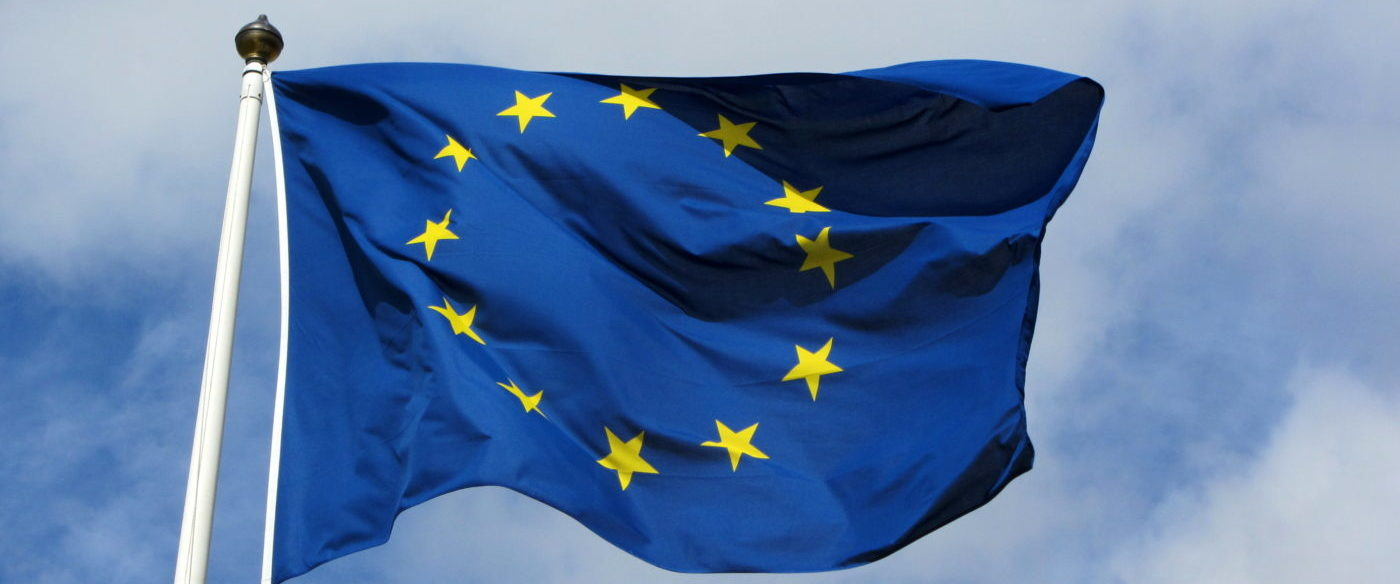 When do I have to put the EU flag in Horizon Europe?